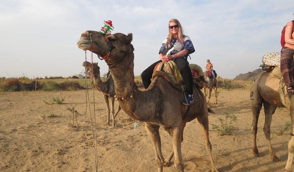 Ingeborg syns det var veldig spennende å ri på kamel.