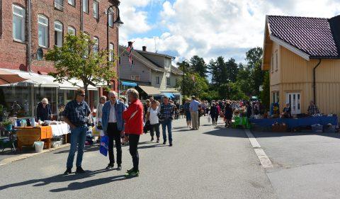 Vårmarked i Ørje sentrum