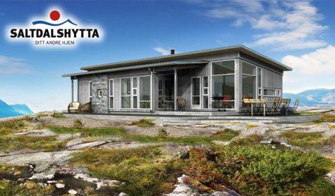 Fritidshus fra Saltdalshytta 25 m fra sjöen