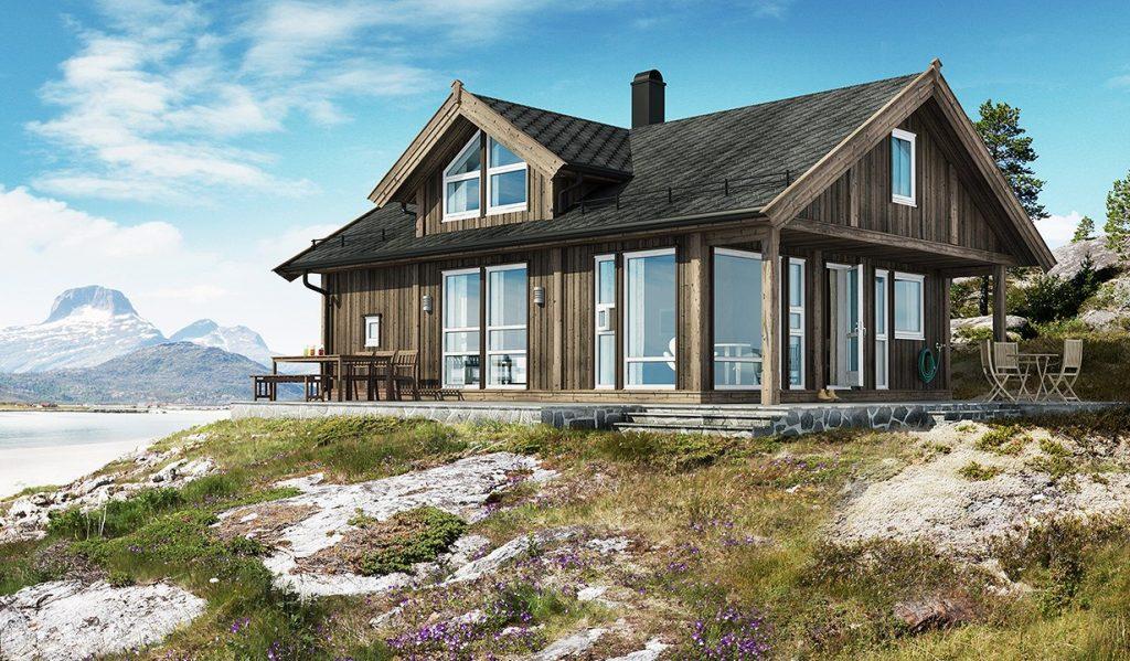 Fritidshus fra Saltdalshytta 25 meter fra sjøen